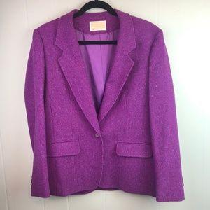 Pendleton | Size 14. Purple Tweed Blazer 100% Wool